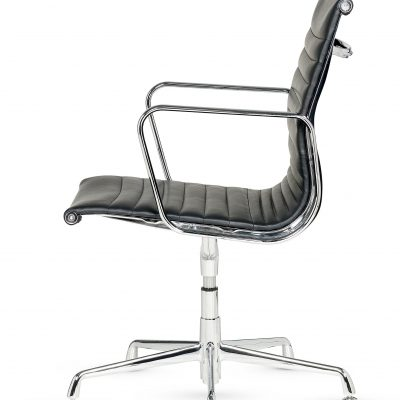Libra -  Low Back Conference Swivel Armchair Ribbed - Fixed Arms