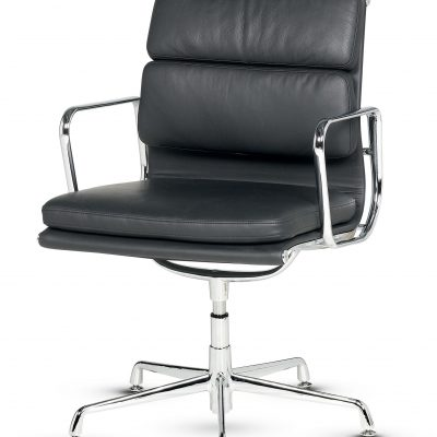 Libra -  Low Back Conference Swivel Armchair Soft Pad - Fixed Arms