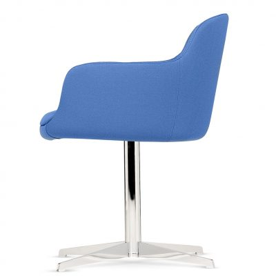 Norma - Tub Chair Four Leg Cross Base - Integrated Arms