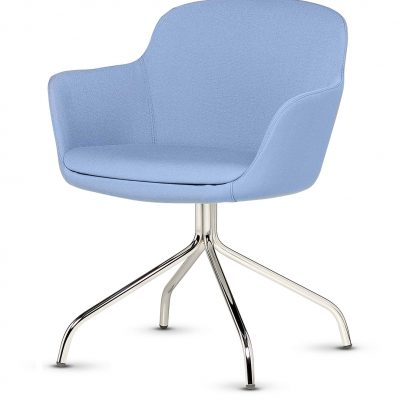 Norma - Tub Chair Four Leg Spider Base - Integrated Arms
