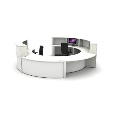 Reception Counter Setup - Alpine White