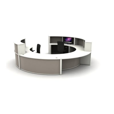 Reception Counter Setup - Grey