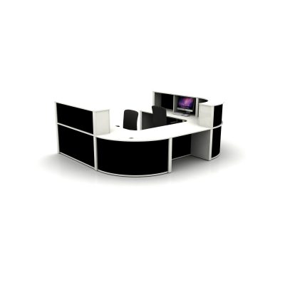 Reception Counter Setup - Black