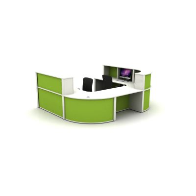 Reception Counter Setup - Lime