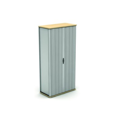 Side Opening Tambour Unit with Silver Carcass