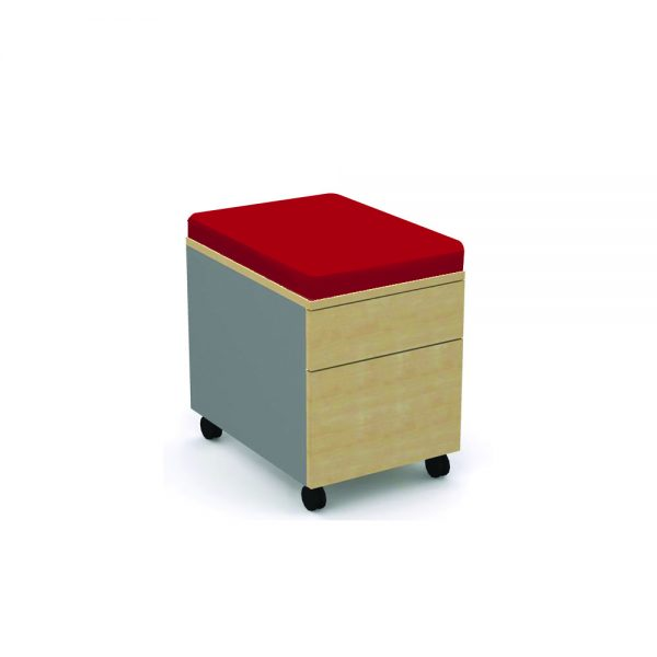Low Mobile Two Drawer with Seat Pad – Main Image