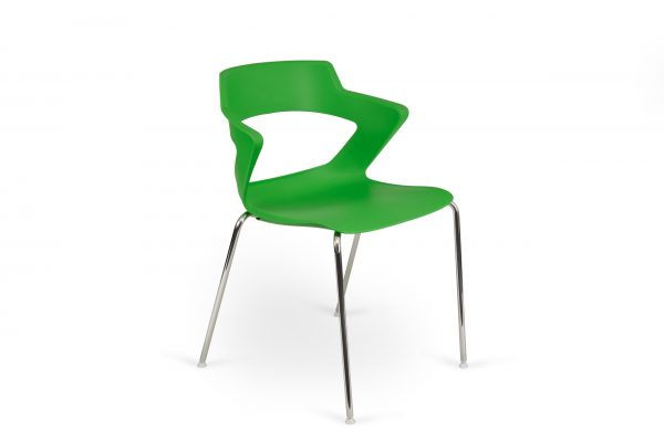 Aria 4 Leg Base Chair Green