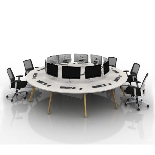 Arthur Circular Table With Oak Legs