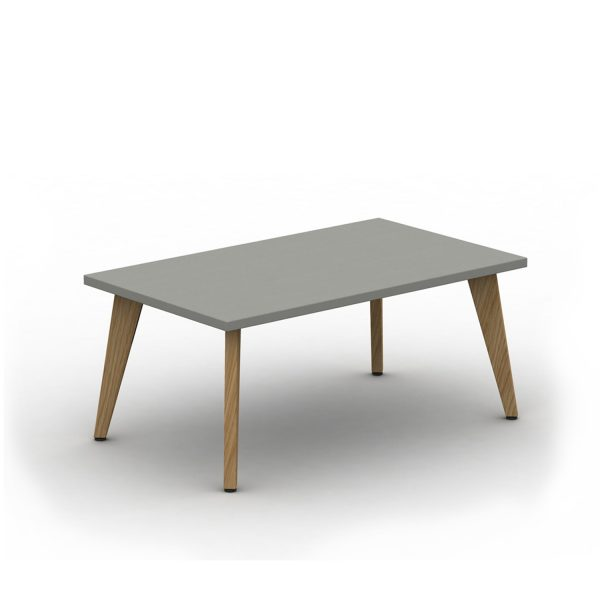 Rectangular Pyramid Wood Coffee Table